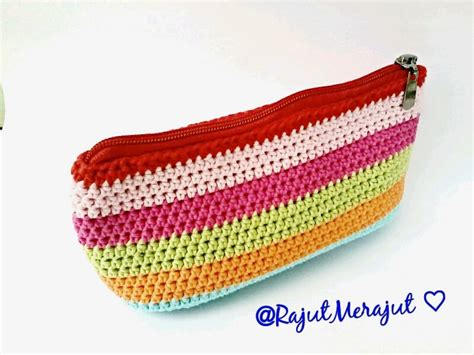 Tas Rajut Salempang Tutup Dompet rajutmerajut every crochet is made with