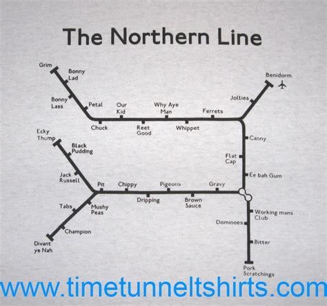 the northern line underground t shirt time