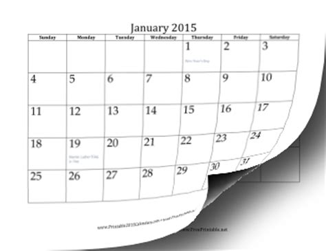 Calendar Template For Pages 2015 Printable 2015 Calendar 12 Pages