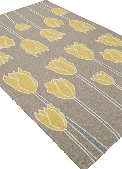 Yellow And Gray Outdoor Rug Indoor Outdoor Durable Polypropylene Gray Yellow Area Rug 5 X 7 6 Contemporary Rugs By