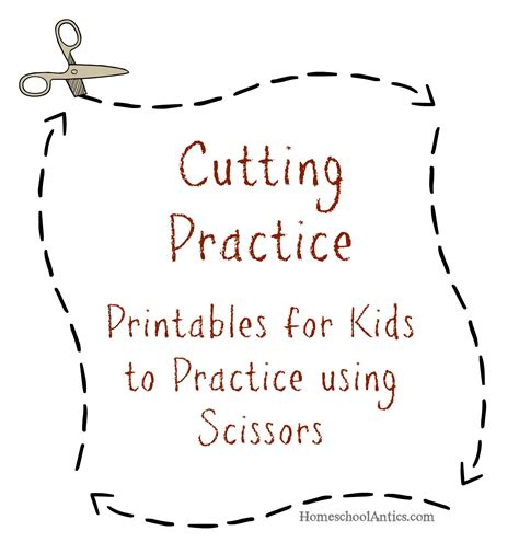 printable practice cutting sheets cutting practice printables