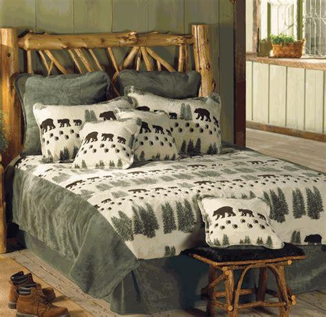 bear bed set rustic bedding king size pearl denali bear bed set black