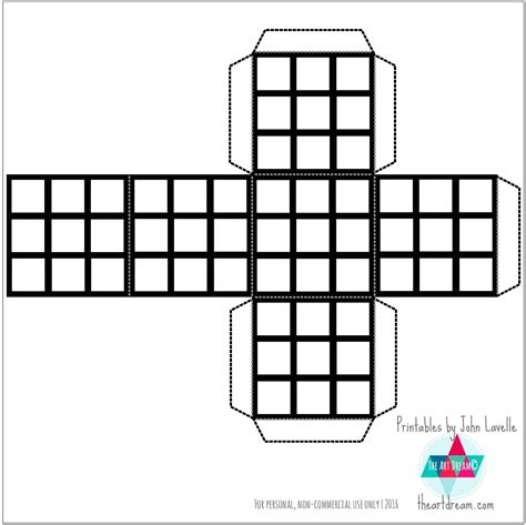 printable rubik s stickers color your own rubik s cube printable