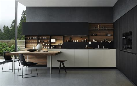 Concrete Cabinets 31 Black Kitchen Ideas For The Bold Modern Home
