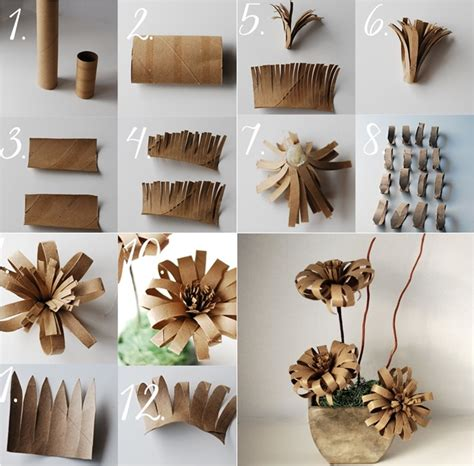 How To Make Paper Rolls - vintage paper flower from toilet paper roll diy