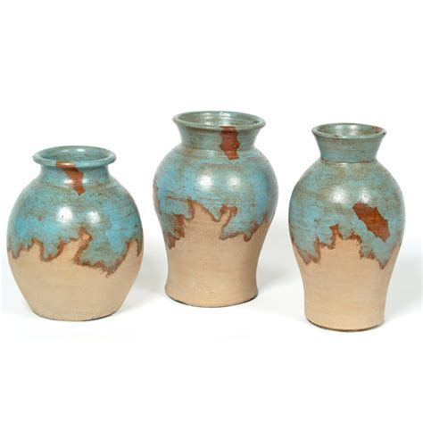 Turquoise Vase Set Adobe Turquoise Asst Vase Set Southwest Home Decor