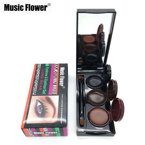 Flower Eyeliner Powder Brown 2016 flower brand makeup eyeliner gel eyebrow powder palette waterproof lasting