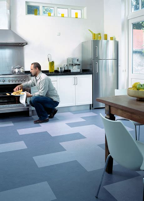 Eat In Kitchen Design forbo marmoleum click natural linoleum flooring modern