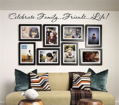 home interior wall decor new celebrate family friends vinyl wall