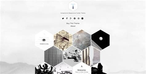 tumblr themes monochrome thex honeycomb responsive tumblr theme tumblr