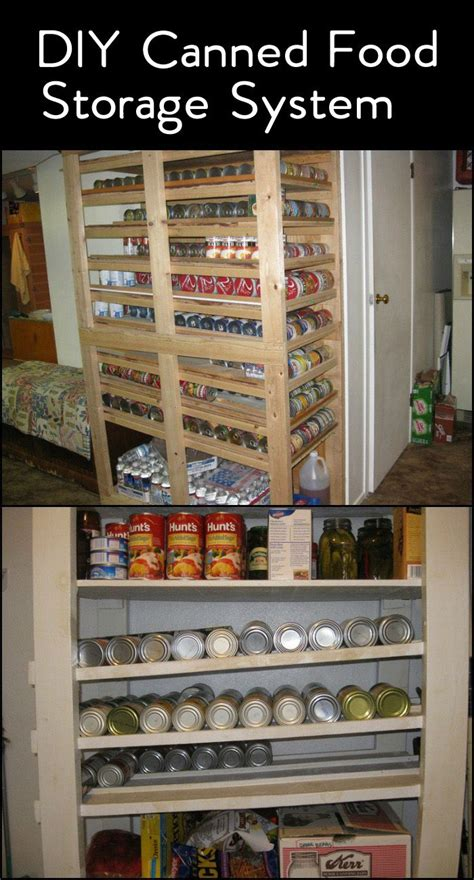 canned food storage pantry and design on pinterest here s a clever storage system for all the canned foods in