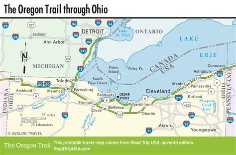 map of oregon ohio ohio road trip usa