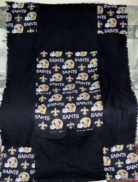 New Orleans Saints Quilt kenlee crafts new orleans saints rag quilt throw