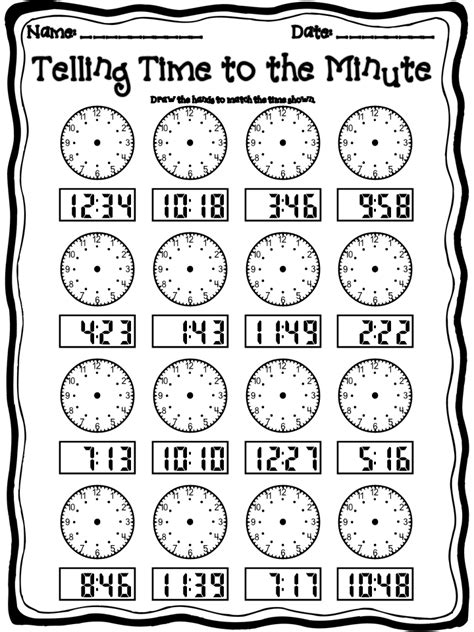 Telling Time Worksheet by Step Into 2nd Grade With Mrs Lemons September 2011