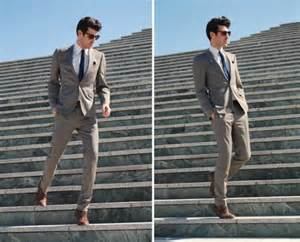 what colors go with brown shoes grey suit black tie j norman post