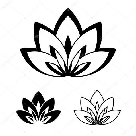 fiore di loto simbolo fiore di loto come un simbolo di vettoriali stock