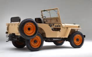 1945 willys overland model cj2a rear three quarters view