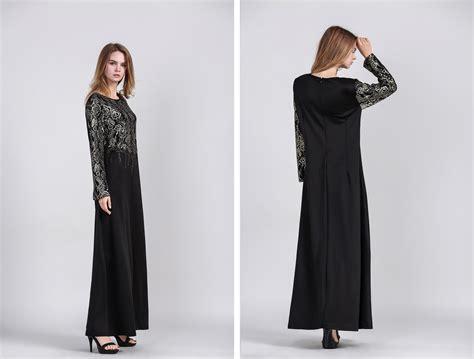 Abaya Jubah Gamis Hitam Bordir Mata 13 jubah sulaman lace malaysia best shopping fashion