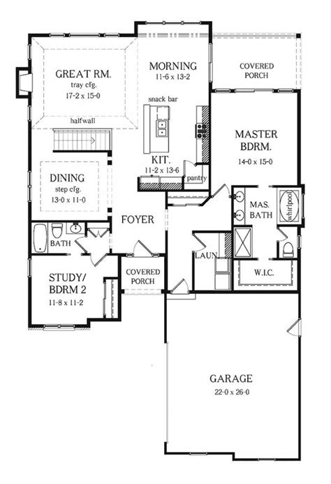 split floor plan home ranch house plan anacortes 30 936 floor plan 1000 ideas