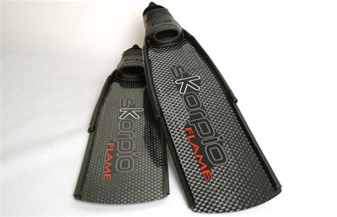 Fin Skorpio Genesis Carbon C4 Diving Freediving Spearfishing c4 skorpio fins with pathos foot pockets
