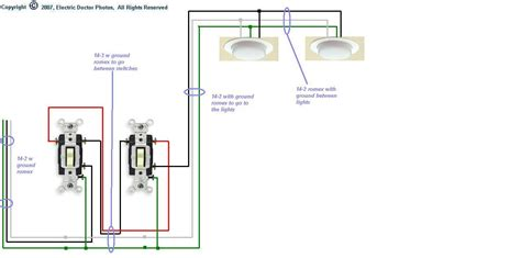 electric light circuit diagram for wiring 4 fluorescent lights between two 3way