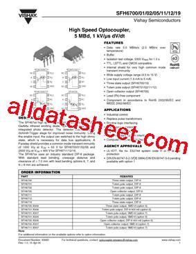 transistor datasheet vishay sfh6719 datasheet pdf vishay siliconix