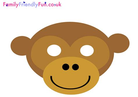 monkey mask template monkey mask for new year jpg 3 508 215 2 480