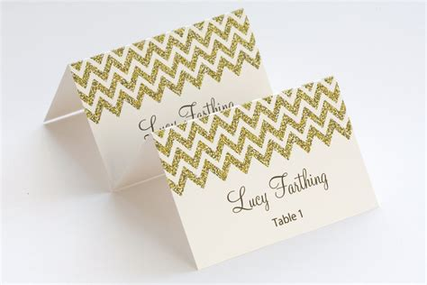 gold place card template chevron name cards diy