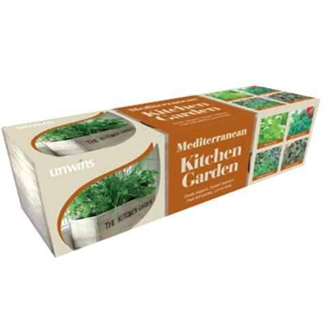 unwins kitchen garden herb kit on sale fast delivery unwins mediterranean kitchen garden herb kit on sale