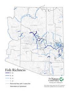 arizona rivers map arizona rivers fish richness map the nature conservancy