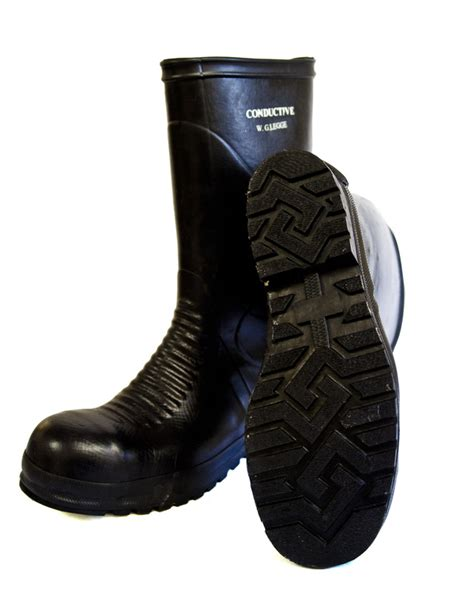 rubber boot grounding protective conductive rubber boot with insoles for static