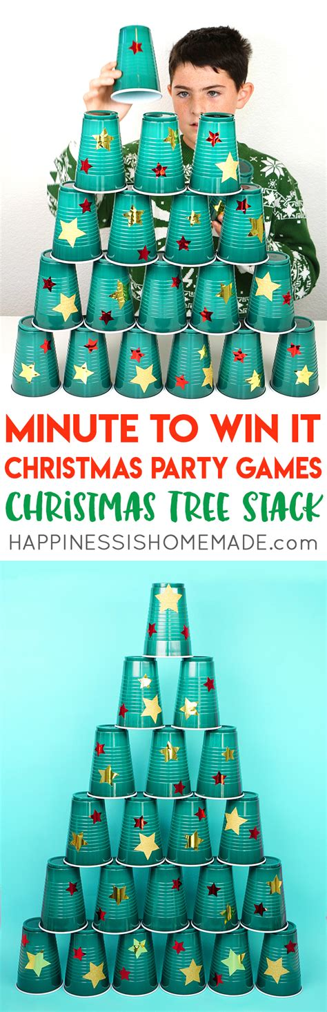 diy christmas party games for groups minute to win it happiness is