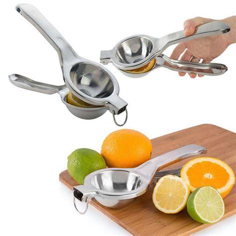 Stainless Steel Lemon Orange Juicer Pressed Clip large manual lemon squeezer juicer fruit orange citrus lime lemon stainless steel clip in