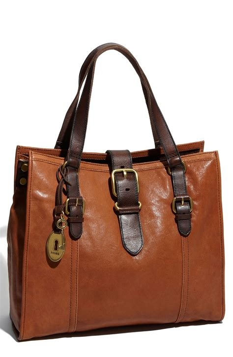 Fossil Tote fossil vintage emory tote in brown saddle lyst