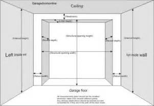 garage door sizes measuring for a new garage door modal title