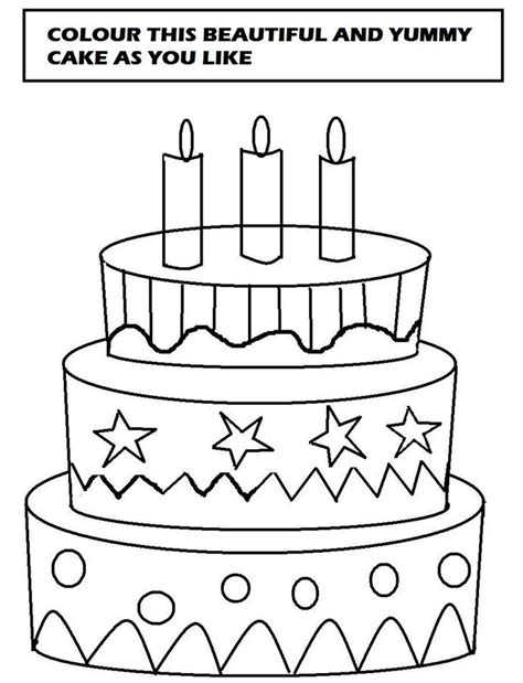 cake coloring page new calendar template site