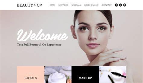 beauty sites beauty salon wix template wix fashion beauty template