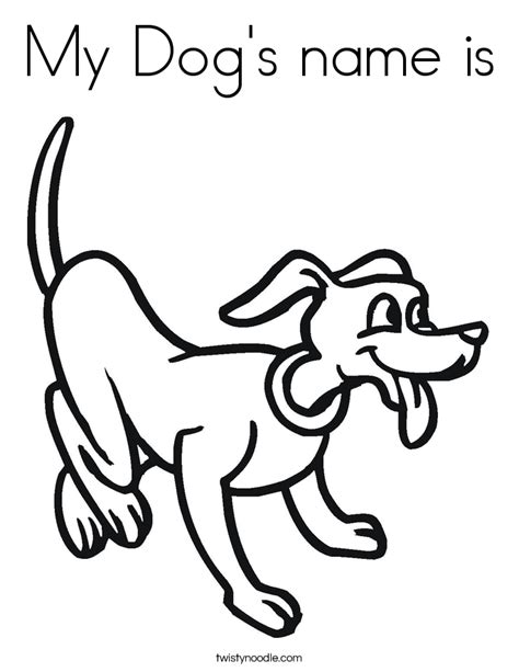 my dog s name is coloring page twisty noodle