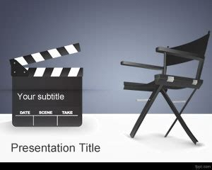 movie director powerpoint template is a free movies ppt