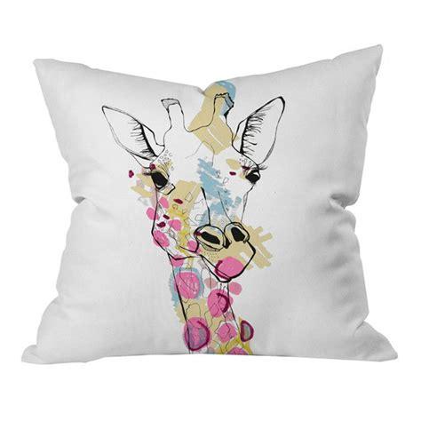 Giraffe Pillow by Casey Rogers Giraffe Color Pillow Inspiration