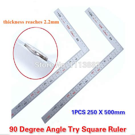 how to measure mm on computer 1pc stainless steel 250 x 500mm bladed l angle try square