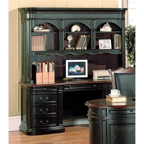 credenza desk with hutch kahlua two tone credenza desk with hutch dcg stores