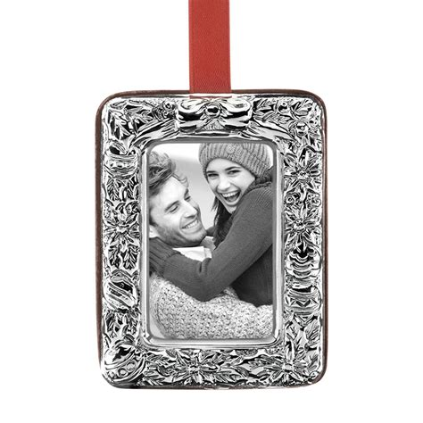 picture frame ornaments poinsettia picture frame ornament 2017