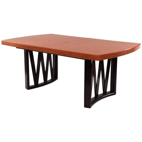 dining tables cork stunning paul frankl cork and mahogany dining table at 1stdibs