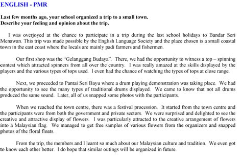 Essay About Trip by Andrew Choo Upsr Tips Pmr Tips Spm Tips Essay School Trip
