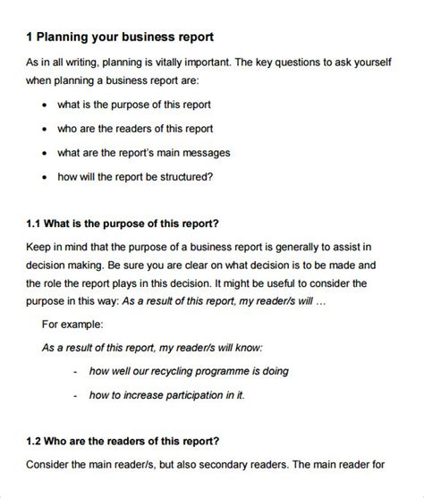 16 Sle Business Reports Sles Exles Templates Sle Templates How To Write A Formal Business Report Template