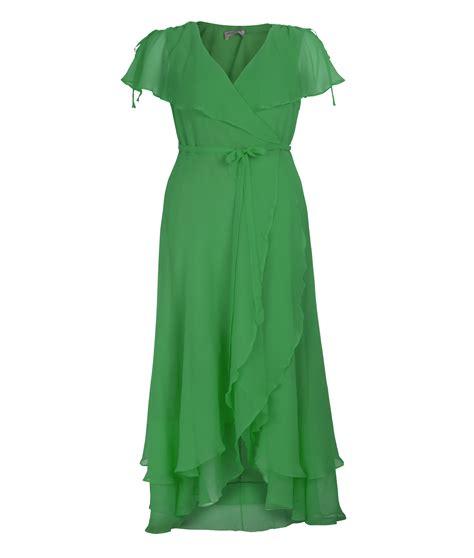 Dress Green vintage chiffon dresses the fashion tag