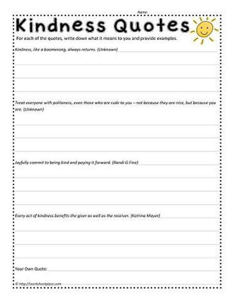 Kindness Worksheets by 17 Best Images About Projects To Try On Goal