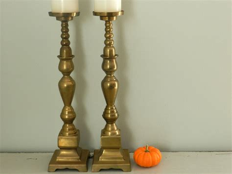Candle Holders For Large Candles Vintage 18 Brass Candle Holders Large Hearth Floor