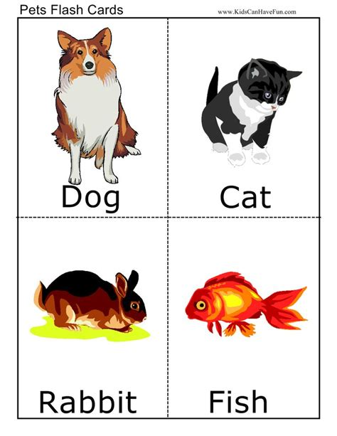 printable flash cards of animals pets flashcards animaux domestiques pinterest
